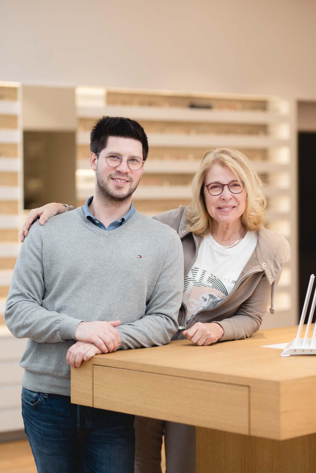 Ein eingespieltes Team: Herr Weissbach und Frau Becker.