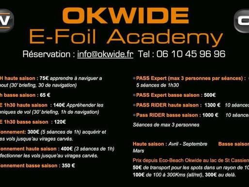 On a testé le e-Foil avec #Okwide au @lac de Saint Cassien