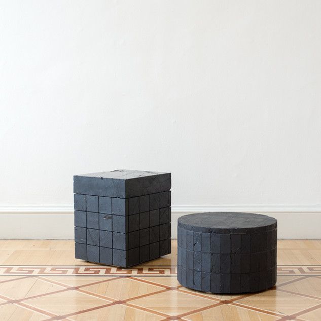 Anthracite Coal Side Table