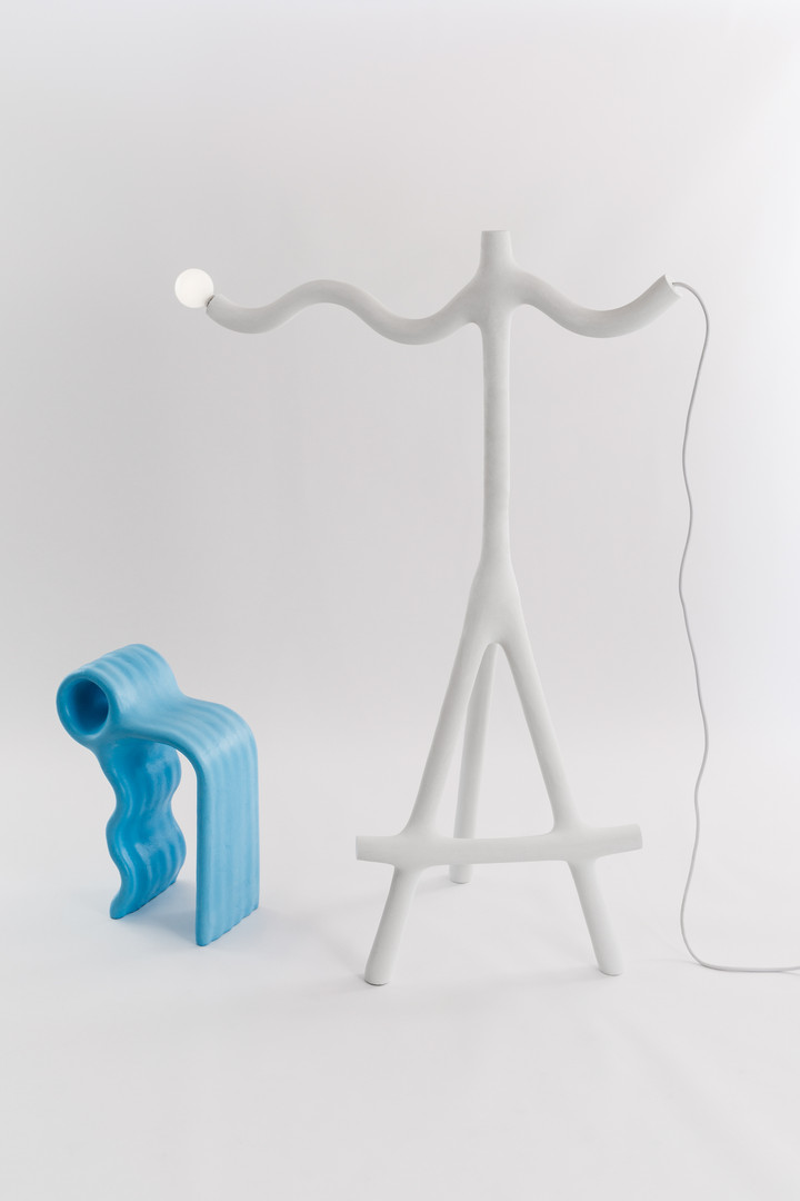 Wave Lamp on Sticks