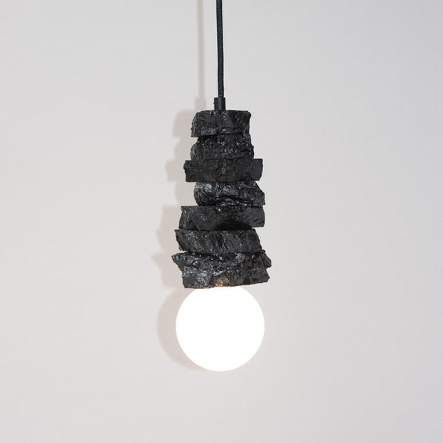 Anthracite Coal Pendant Light