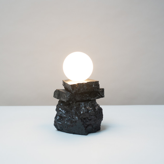 Anthracite Coal Table Light