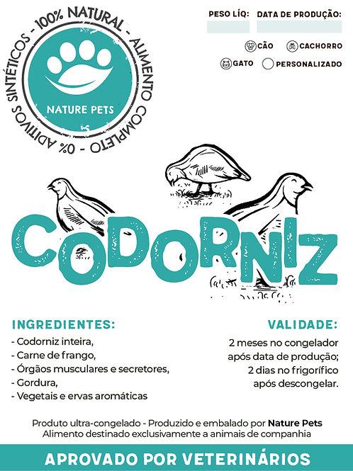 Refeição Codorniz p/ Cão adulto (Preço por Kg)