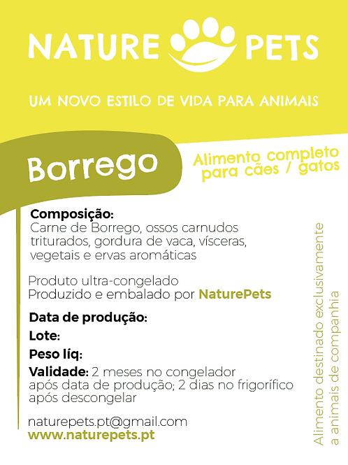 Refeição Borrego p/ Cachorro (Preço por Kg)