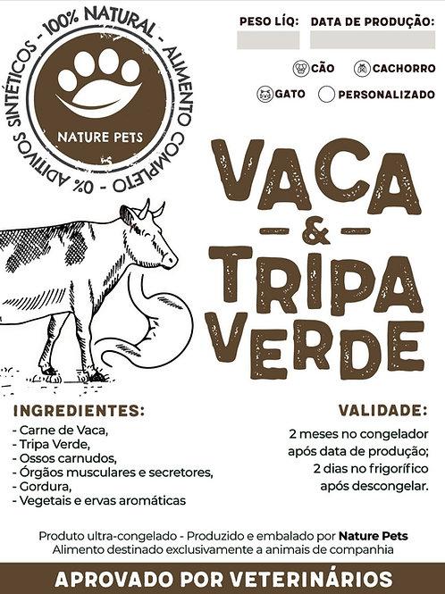 Refeição Vaca & Tripa Verde p/ Cachorro (Preço por Kg)