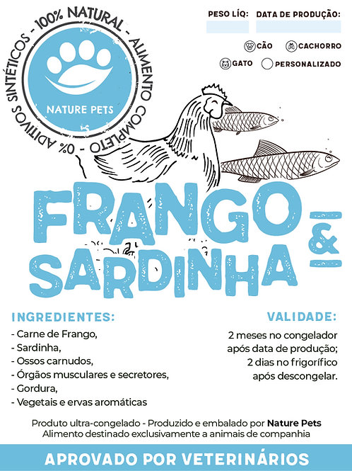 Refeição Frango&Sardinha p/ Cão adulto (Preço por Kg)