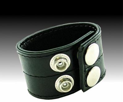 Кольцо кожаное эрекционное BDSM на кнопках 3,5 х 18,0 см