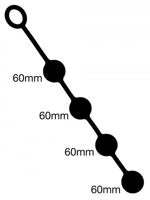 Анальные шарики - 4шт. по 60мм