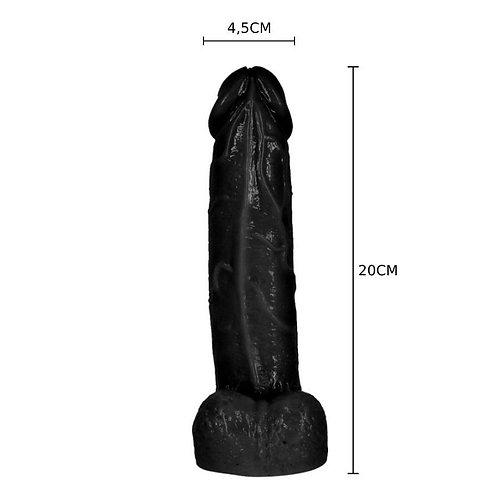 Фаллоимитатор на присоске 20см х 4,5см Master Dong черный