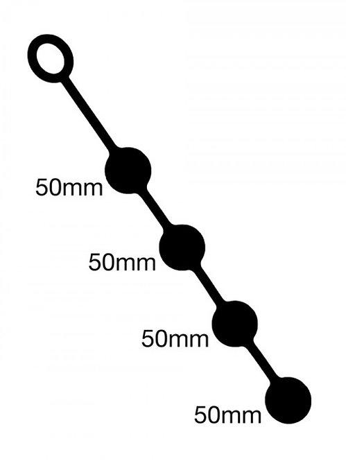 Анальные шарики - 4шт. по 50мм Великобритания