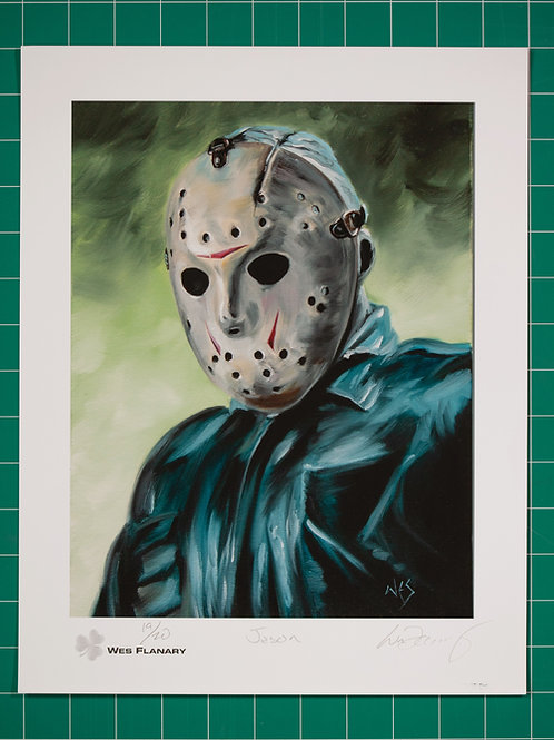 Jason Voorhees Signed and Numbered 11x14 Print*