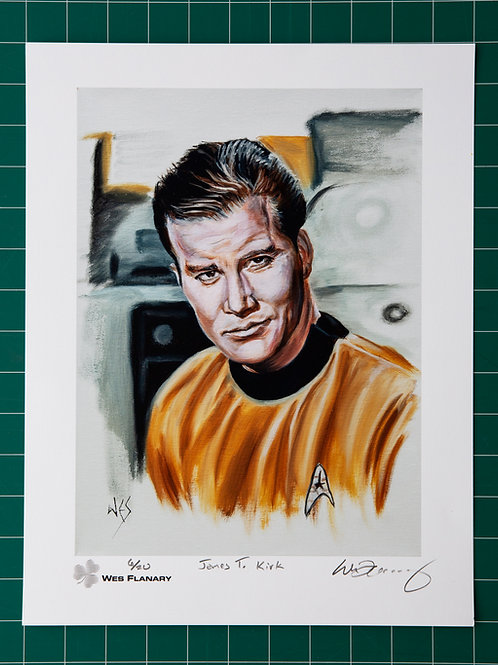 James T Kirk Signed and Numbered 11x14 Print*