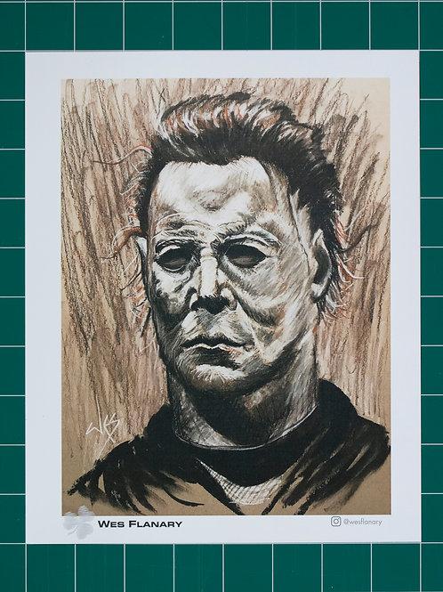Michael Myers Charcoal 8x10 Print