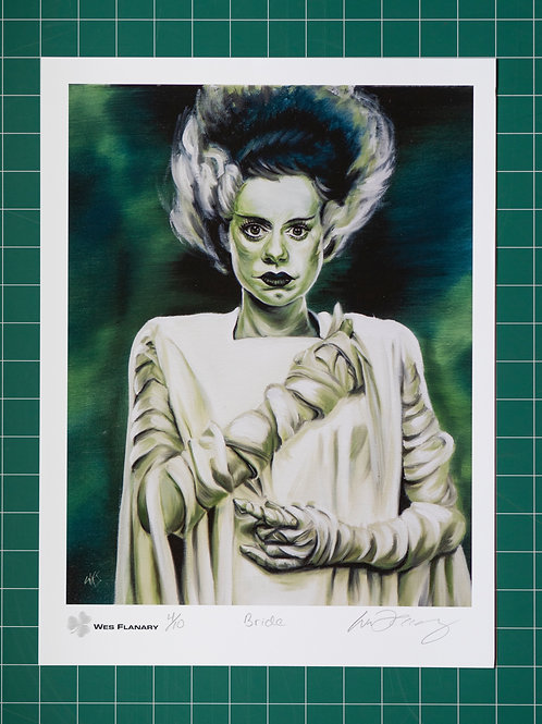 Bride of Frankenstein Signed and Numbered 12x16 Print*