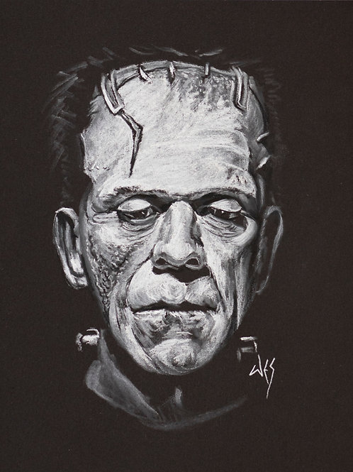 Frankenstein's Monster Original Charcoal - 8x10