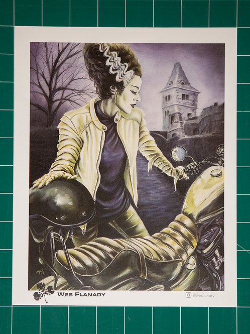 The Bride Rides 8x10 Print