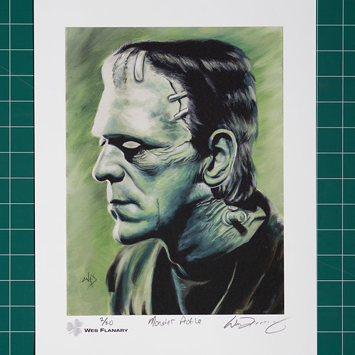 Frankenstein's Monster Profile Signed and Numbered 11x14 Print*