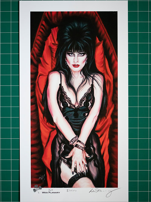 Elvira Signed and Numbered 10.25X19 Print