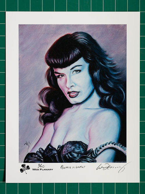 Bettie in Leather Signed and Numbered 11x14 Print*