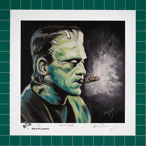 Frankenstein Smoke Good - 12x12 Signed and Numbered Print*