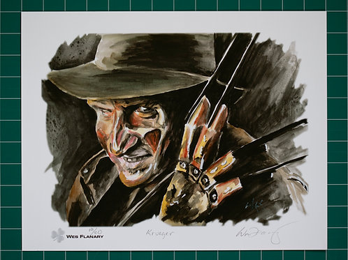 Freddy Krueger Signed and Numbered 11x14 Print*