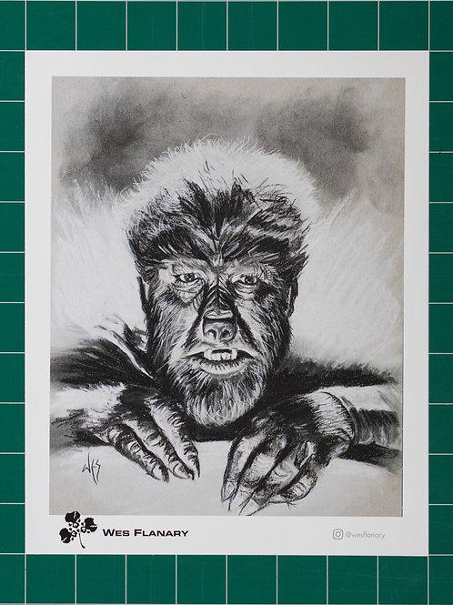 Wolfman Charcoal 8x10 print