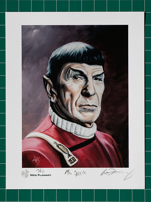 Mr. Spock Signed and Numbered 11x14 Print*