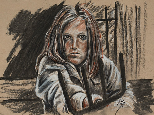 Ginny (Friday the 13th) Original Charcoal - 9-12