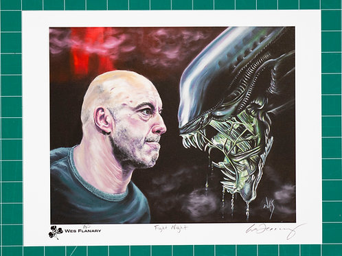 Joe Rogan - Fight Night Signed and Numbered 11x14 Print*