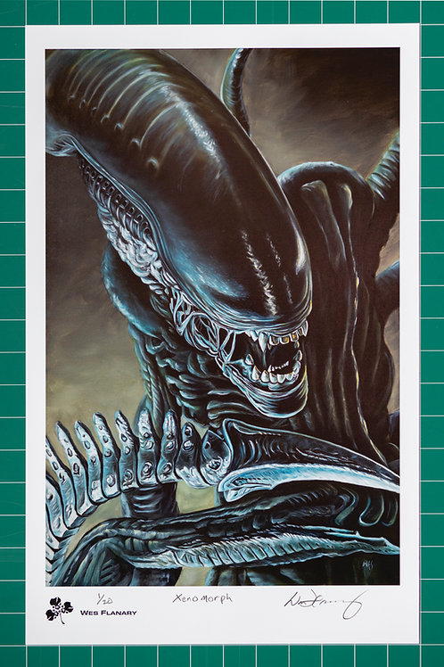 Xenomorph Signed and Numbered 12x19  Print*