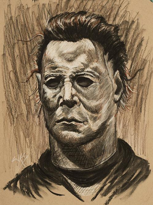 Michael Myers Original Charcoal - 9x12