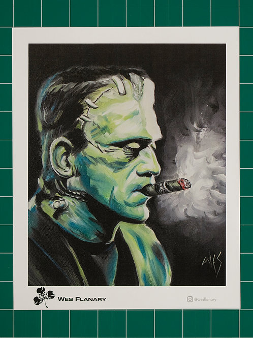 Frankenstein Smoke Good - 8x10 Print