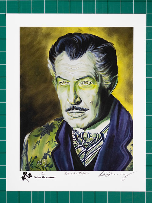 Vincent Price Signed and Numbered 11x14 Print*