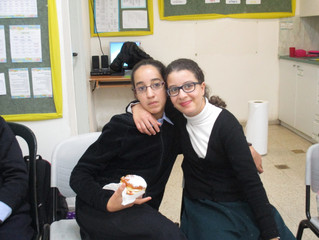 Girls' Chanukah Party with Inclusion Students