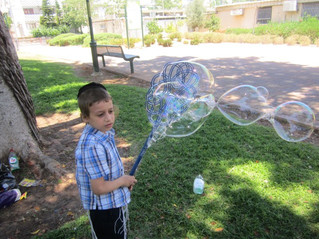 פעילות עם מים וסבון