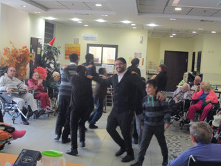 Celebrating Chanukah with Residents of a Retirement Home