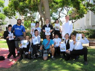 חלוקת תעודת במסגרת תכנית פעילות ''אתגרים'' - אהל דב - אשדוד