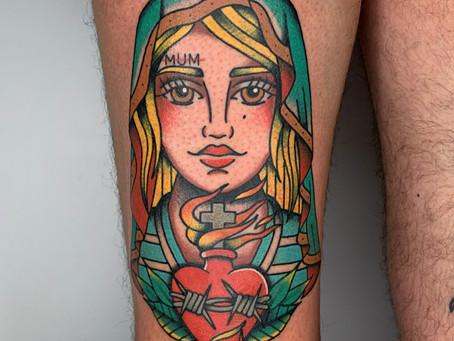 Tattoo tradicional realitzat x @elpuke