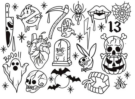 🎃 Flash tattoo day especial HALLOWEEN 🎃 (31/10/19)🔥