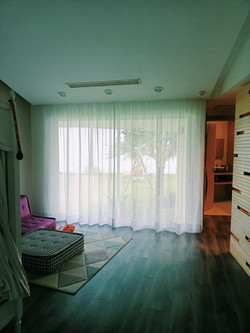 cortinas de gasa en plafon