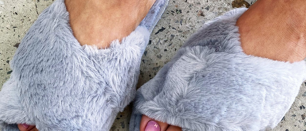 Grey Luxe Slippers