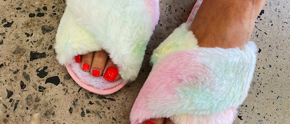 Rainbow Luxe Slippers