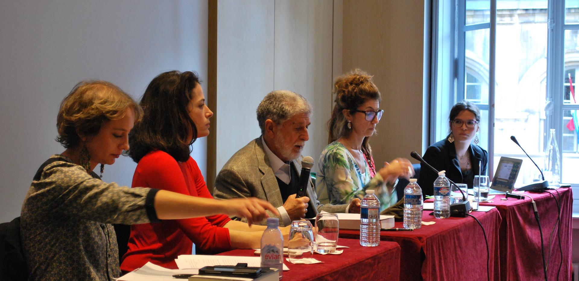 Juliette Dumont, Anaïs Fléchet, Celso Amorim, Jânia Saldanha, Susana Bleil et Maud Chirio