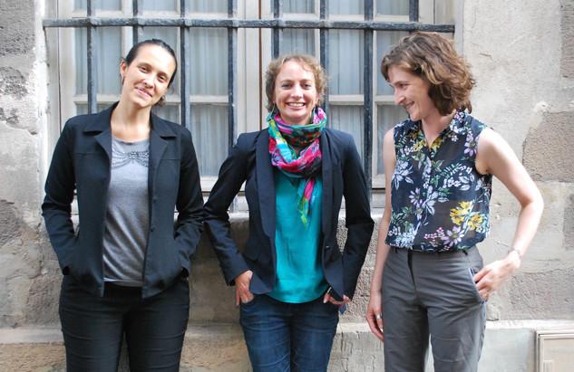 Les organisatrices : Natália Guerellus, Juliette Dumont et Mélanie Toulhoat