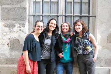 Le bureau : Aline dell'Orto, Natália Guerellus, Juliette Dumont et Mélanie Toulhoat