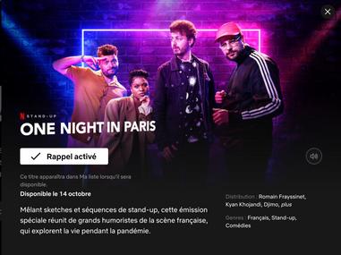 ONE NIGTH IN PARIS