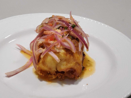 Happy National Tater day! Here's a recipe for Peruvian Fried Stuffed Potatoes