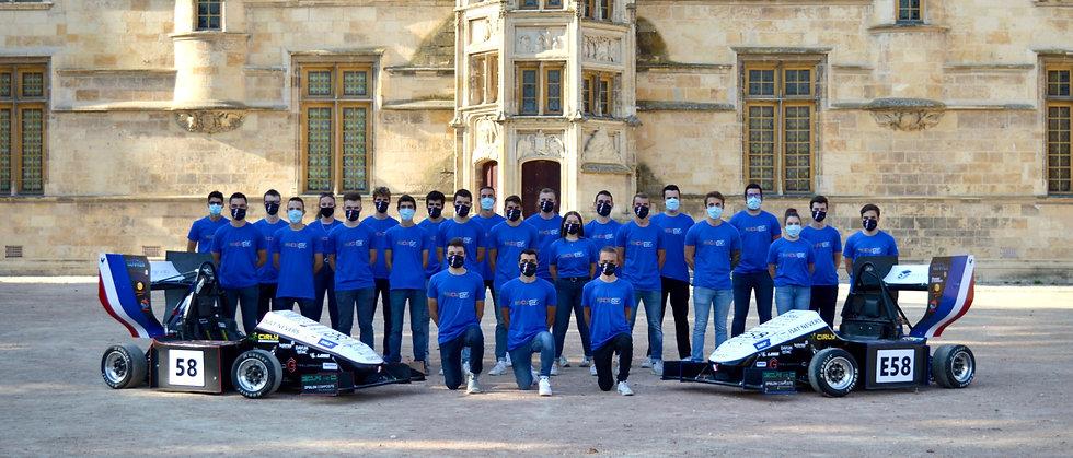 Equipe 2021 ISAT Formula Team 25 étudiants ingénieurs français de l'ISAT