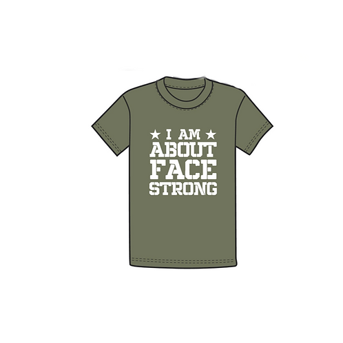 About Face Strong T shirt