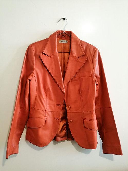 Tangerine,Tangerine Leather Jacket